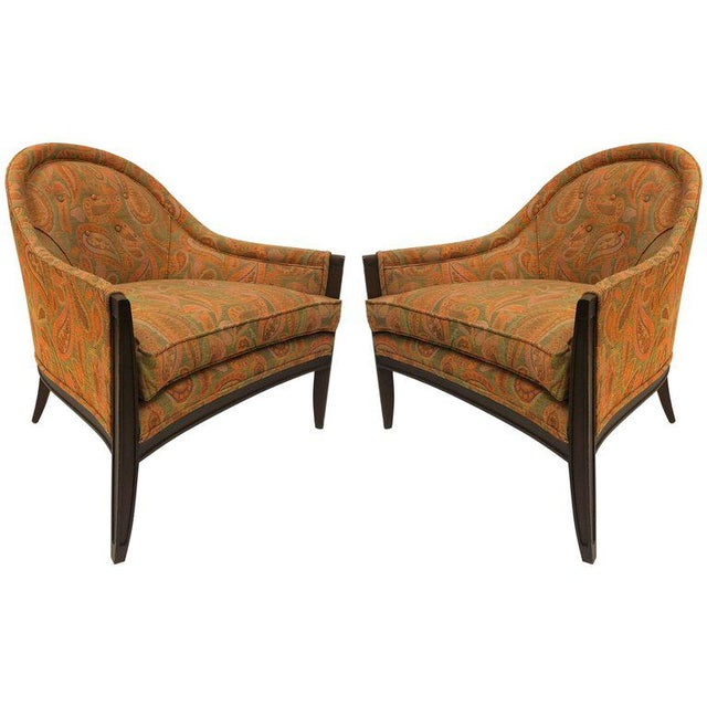 Pair Mid Century Modern Lounge Chairs For Sale In New York - Image 6 of 6