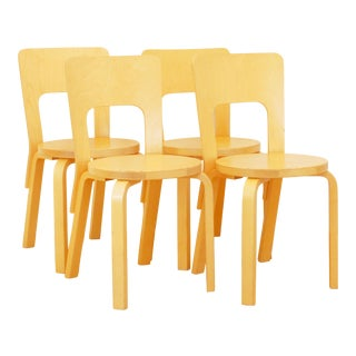 Late 20th Century Aalto 66 Chairs - Set of 4 For Sale