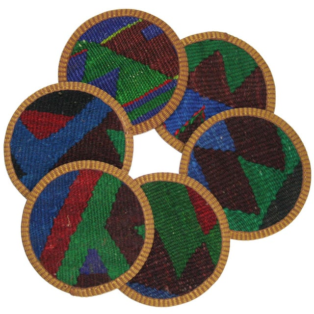 Kazazlar Kilim Coasters - Set of 6 - Image 1 of 2