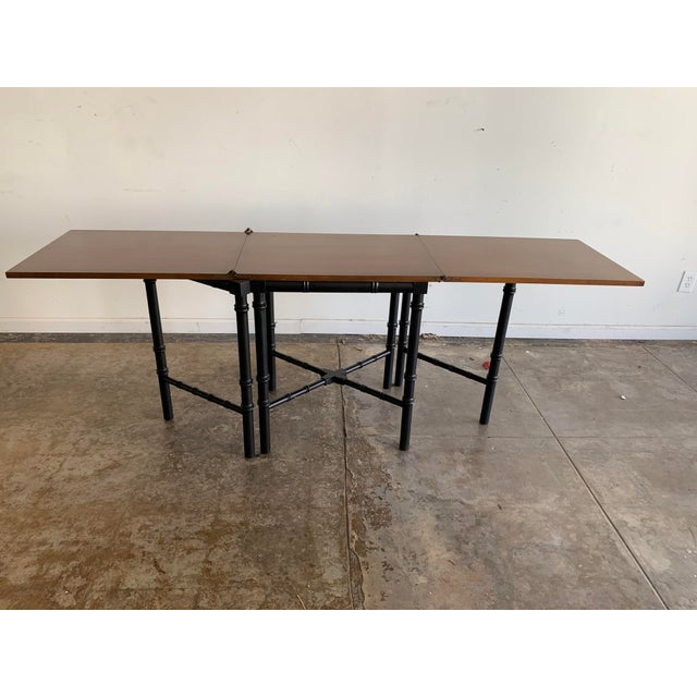 Vintage Drexel Expandable Bamboo Console For Sale - Image 12 of 13