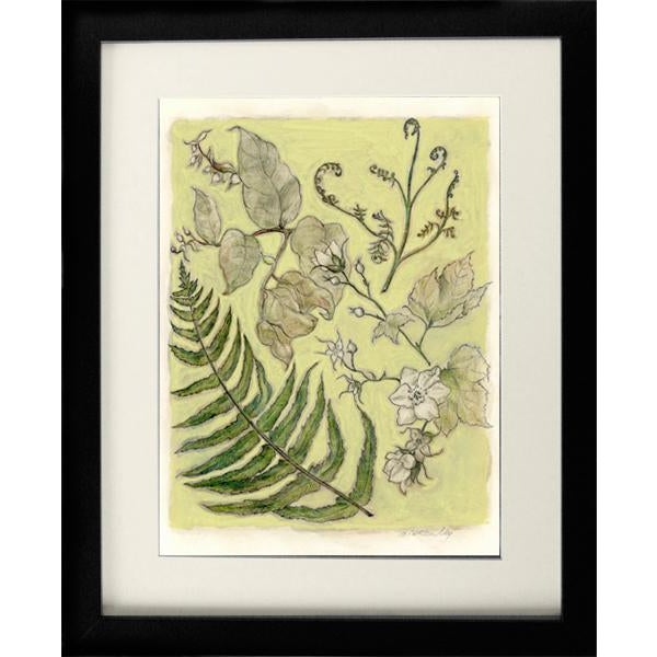"""""""Northwest Botanical III"""" Mixed Media Original Painting For Sale - Image 4 of 6"""
