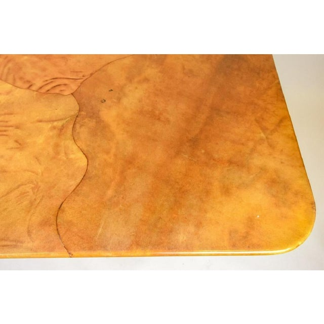 Paint Faux Goatskin Dining Table by Karl Springer. For Sale - Image 7 of 8
