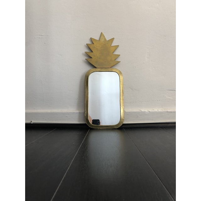 Cute for a kid's room, glam leaning on a vanity! From French lighting and decor brand Honore. Gold/brassy pineapple shape....