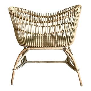 20th Century Boho Chic Rattan Baby Bassinet/Crib For Sale