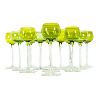 Mid-20th Century Baccarat Crystal Stemware Service / Fourteen People For Sale