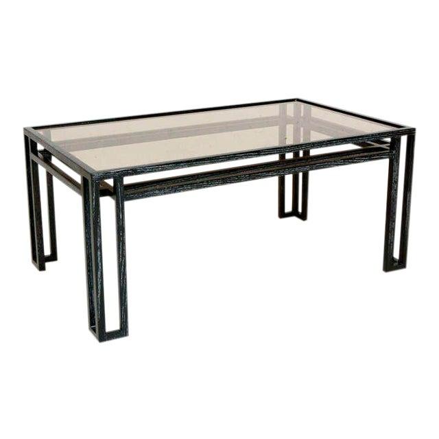 Mid-Century Modern Cerused Oak Coffee Table For Sale