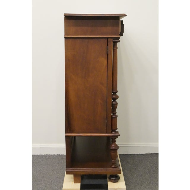 20th Century Traditional Burl Walnut and Mahogany Court Cupboard For Sale - Image 11 of 12