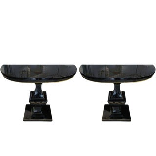 Pair of Hollywood Regency Consoles For Sale