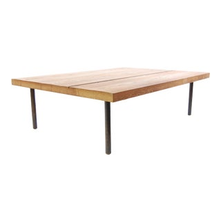 BDDW Oak and Ebony Coffee Table For Sale