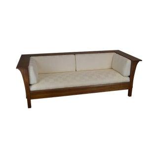 Stickley Mission Collection Oak Prairie Settle Sofa (D) For Sale