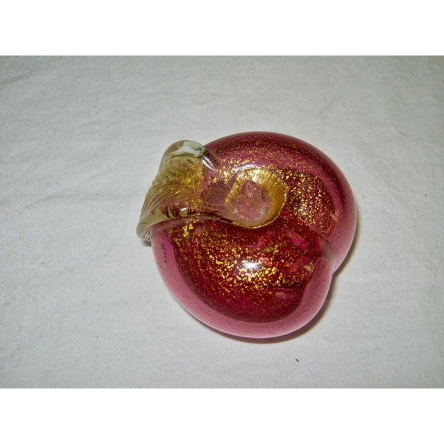 Italian Murano Blown Glass Apple - Image 6 of 6