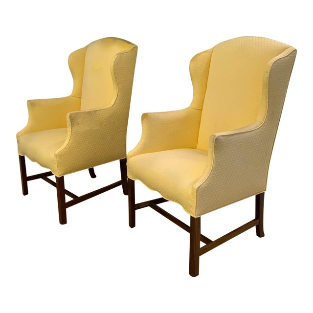 Pair, Vintage Wingback Chairs For Sale