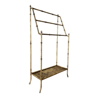 Vintage Gold Leaf Italian Storage Rack