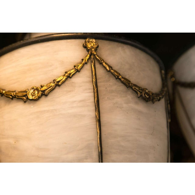 Metal 1900s Caldwell Leaded Glass Lanterns - a Pair For Sale - Image 7 of 9