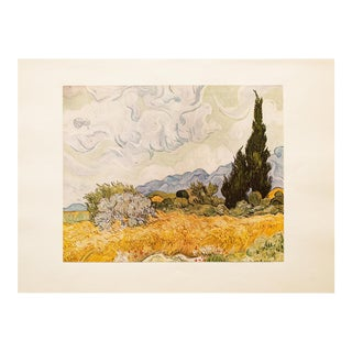 "1950s Van Gogh, First Edition ""Wheat Field With Cypresses"" Lithograph For Sale"