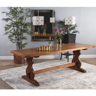 1940s French Golden Oak Trestle Table Preview