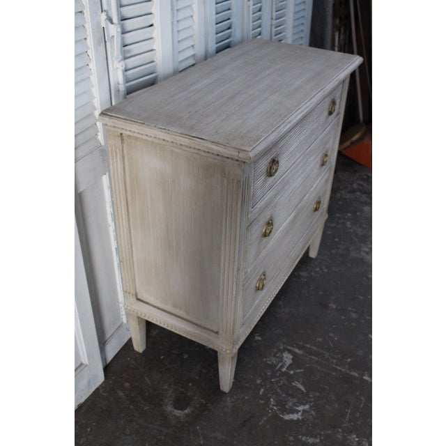 Metal 20th Century Vintage Swedish Gustavian Style Nightstands - A Pair For Sale - Image 7 of 13