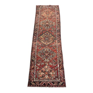 "1960s Persian Karajeh Wool Runner - 3'4""x11'6"" For Sale"