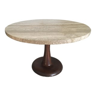 Nanna Ditzel Travertine Danish Mid-Century Modern Coffee Table
