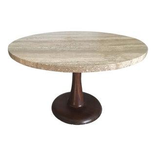 Nanna Ditzel Travertine Danish Mid-Century Modern Coffee Table