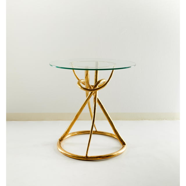 Pair of Brass Gueridon Table, Gordian Node, Misaya For Sale - Image 6 of 7