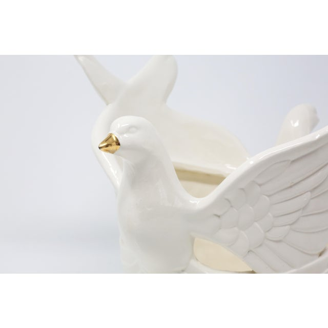 Figurative Ceramic Flying Doves Candle Holders - Set of 3 For Sale - Image 3 of 12