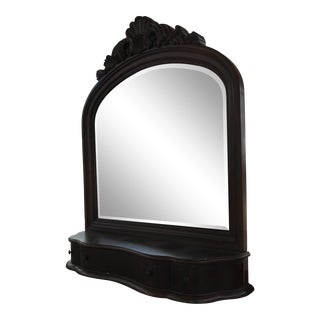 Dark Wood Large Vanity Mirror Collezionne Europa For Sale