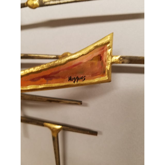 Curtis Jere 1970's Vintage Style of Jere Copper and Brass Brutalist Wall Sculpture For Sale - Image 4 of 5