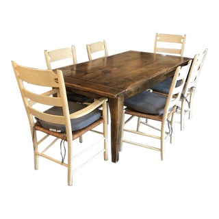 Wood Kitchen Table and Chairs For Sale