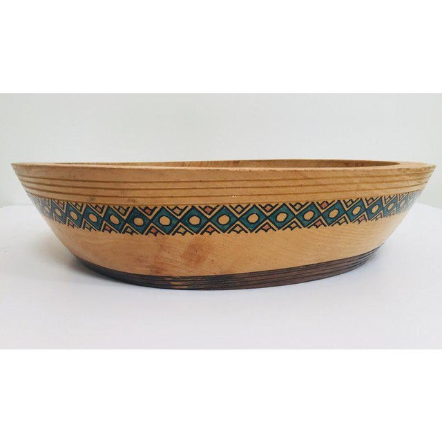 Tan Massive Large Round African Primitive Hand Hewn Wood Dough Bowl For Sale - Image 8 of 13