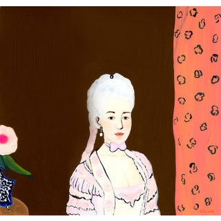 """Portrait of Maria Christina, Duchess of Teschen"" Contemporary Gouache Painting by Alexandra Swistak For Sale"