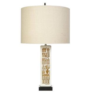Georges Briard Village Scene Ceramic Lamp