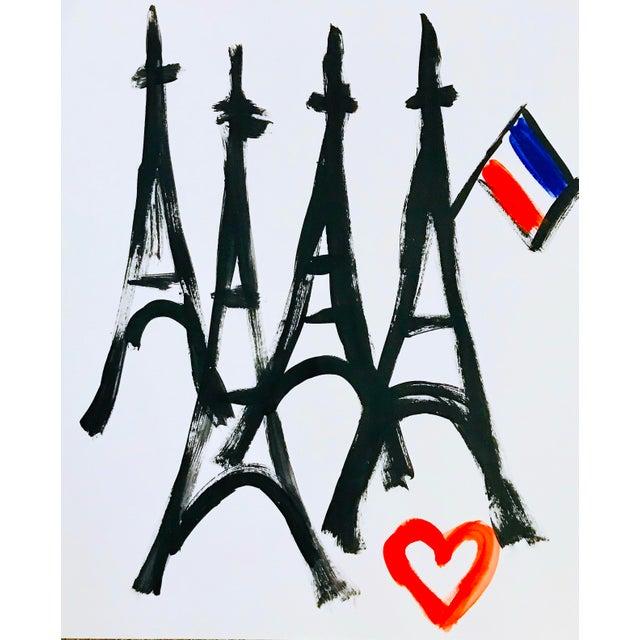 Paris Art Paris Love Painting For Sale - Image 4 of 4