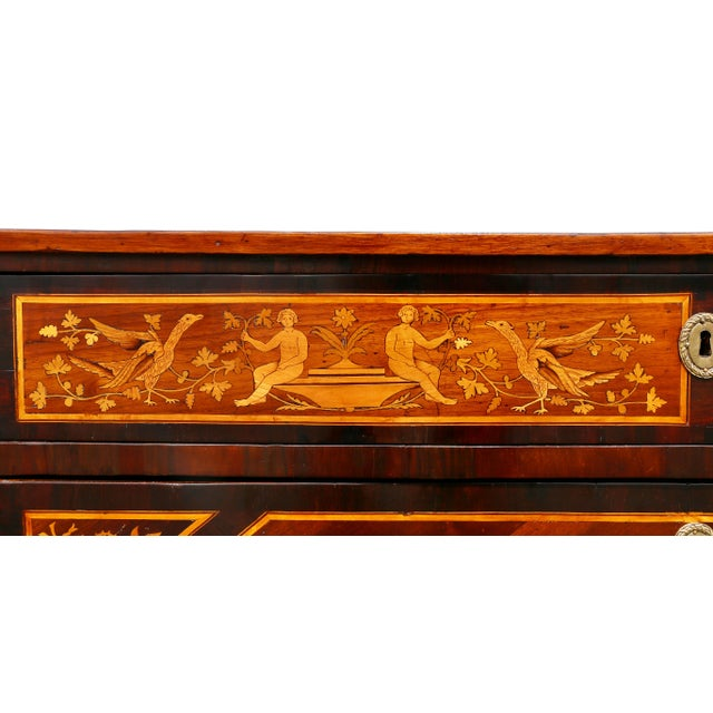 Early 19th Century Italian Neoclassic Marquetry Inlaid Commode For Sale - Image 5 of 13