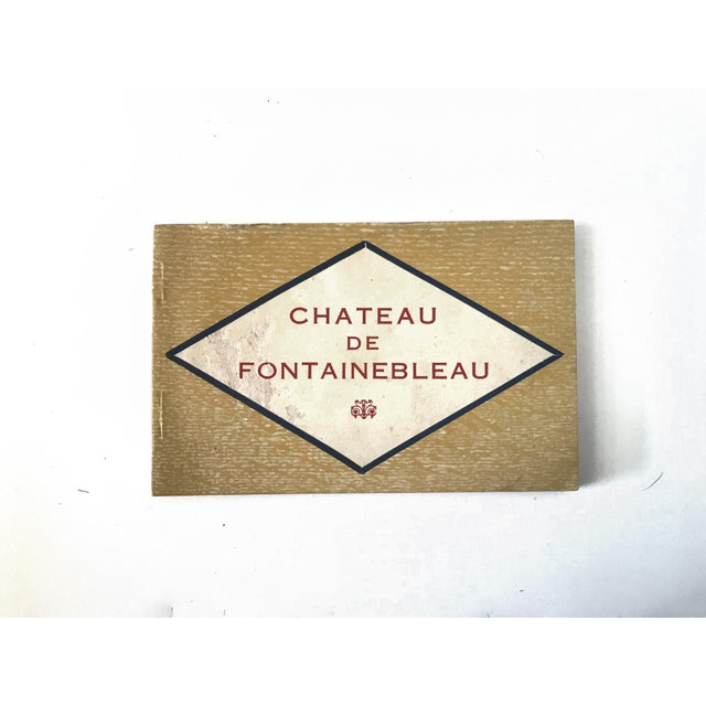 French Country French Chateau De Fontainbleau Souvenir Postcard Book For Sale - Image 3 of 11