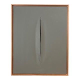 Gray Modern Art Painting by Tony Curry For Sale