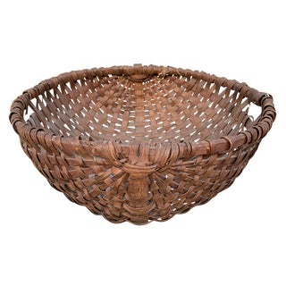Large 19th Century American Spale Gathering Basket For Sale