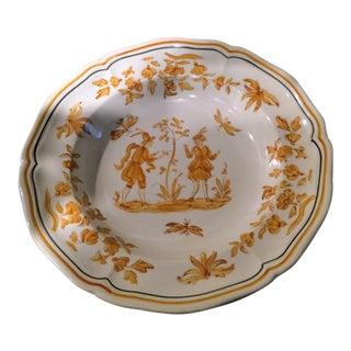 Longchamp French Faience Joseph Olerys Moustiers Rim Soup Bowl