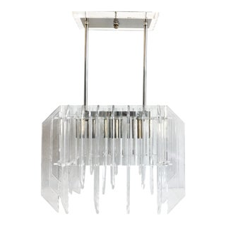 1970s Lucite Skyscraper Chandelier For Sale