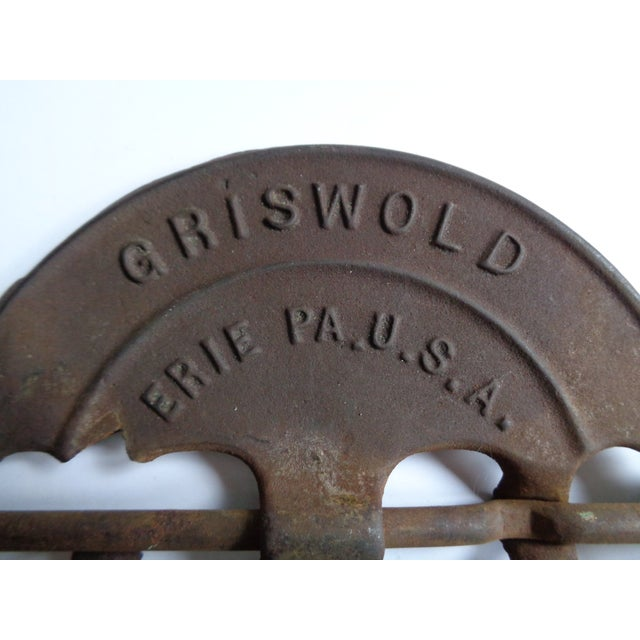 Rustic Vintage Griswold Rustic Cast Iron Stove Damper For Sale - Image 3 of 4