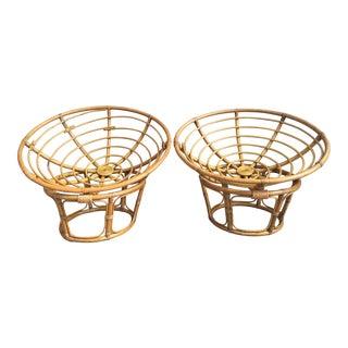 Pair of Italian 1960s Bamboo Chairs