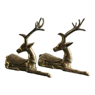 "Pair of Brass""Deer""boxes For Sale"