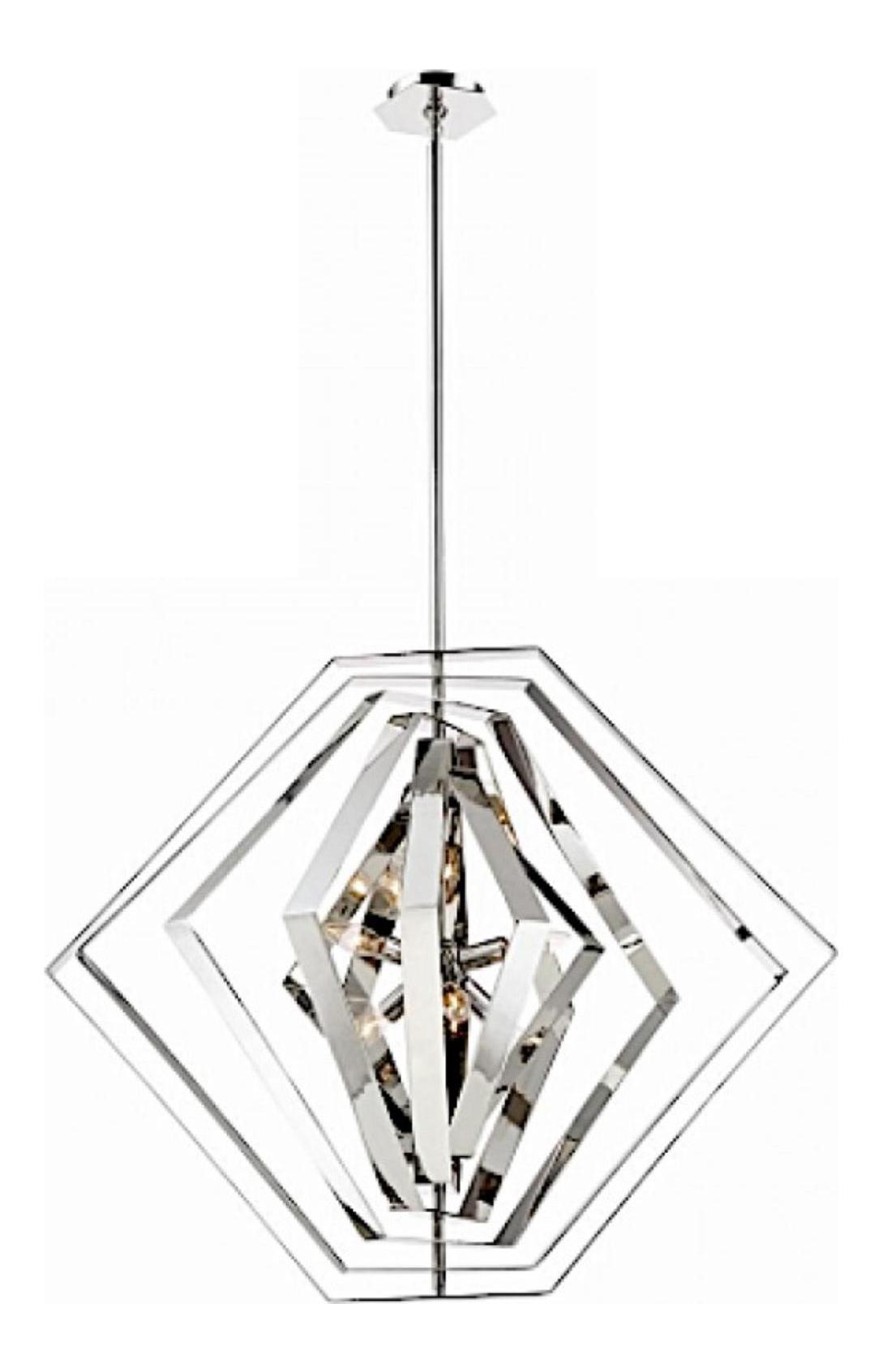 Contemporary Chrome Finished Geometric Pendant Light Chairish