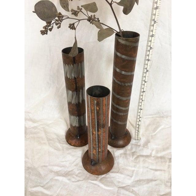 Brutalist 1990s Industrial Modern Vases - Set of 3 For Sale - Image 3 of 10