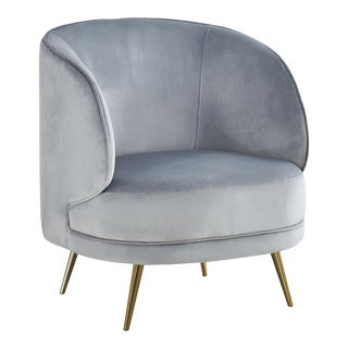 Carrie Armchair in Gray For Sale