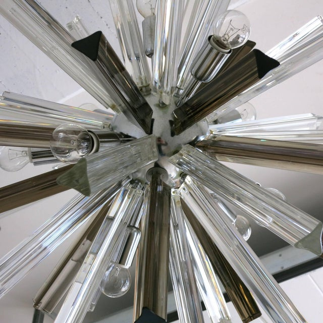 Italian Mid-Century Murano Glass Chandelier by Venini For Sale In Palm Springs - Image 6 of 8