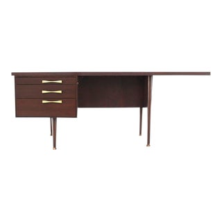 Mid-Century Modern Three-Drawer Writing Desk For Sale