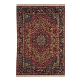 "1990s Traditional Karastan Medallion Kirman Area Rug - 8'8"" X 10'6"" For Sale"