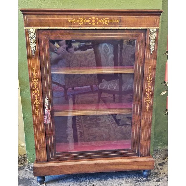 Glass 19c French Louis XVI Style Vitrine For Sale - Image 7 of 13
