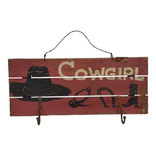 Cowgirl Hat Rack For Sale